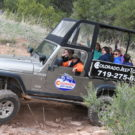 happy tourists and guides during their Colorado Jeep Tours experience