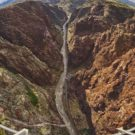 rounded image of river below Royal Gorge