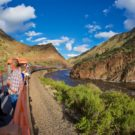 guests enjoying the outdoor view on Royal Gorge train