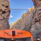 top view of Royal Gorge Train with bridge in background