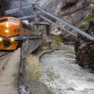 Royal Gorge going through hanging bridge Colorado Jeep Tours