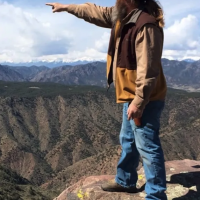 Will points and explains local history Royal Gorge Canon City Colorado
