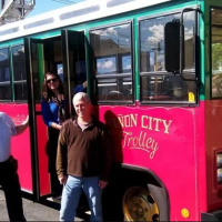 Canon City Trolley is ready for passangers Royal Gorge Canon City Colorado