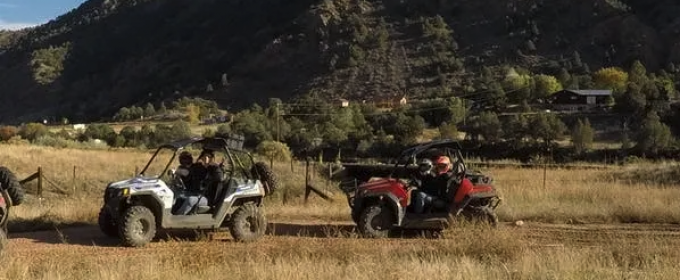 scenic view of Play Dirty ATV tour riders Royal Gorge Canon City Colorado