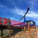 helicopter is ready for a tour of the Royal Gorge in Canon City Colorado