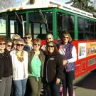 Group of women enjoy their Canon City Trolley Ride around town