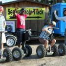 segway tour riders show off hands-free Royal Gorge Canon City Colorado