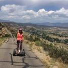 segway tour rider enjoys the views Royal Gorge Canon City Colorado