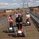 off road segway riders enjoy the views from the Royal Gorge Bridge Canon City Colorado