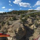 Captain zipline -someone's view as they zip across Royal Gorge Canon City Colorado