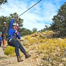 woman tries an easy zipline for the first time Royal Gorge Canon City Colorado