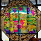 stained glass at the winery at Holy Cross Abbey